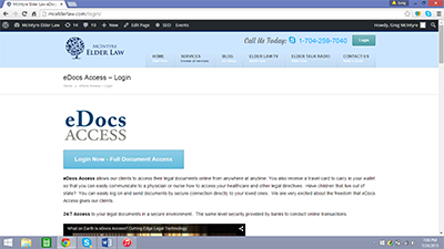 eDocs Access - Screen Shot
